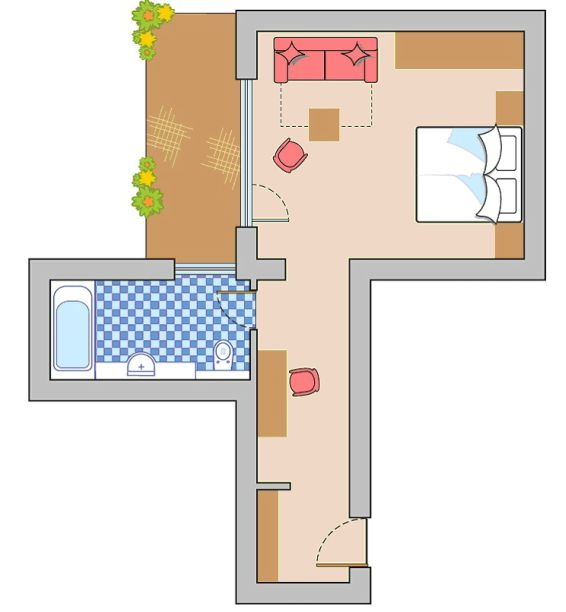 Layout Double Room Mutzkopf