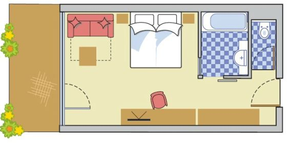 Layout Double Room Panorama 3000
